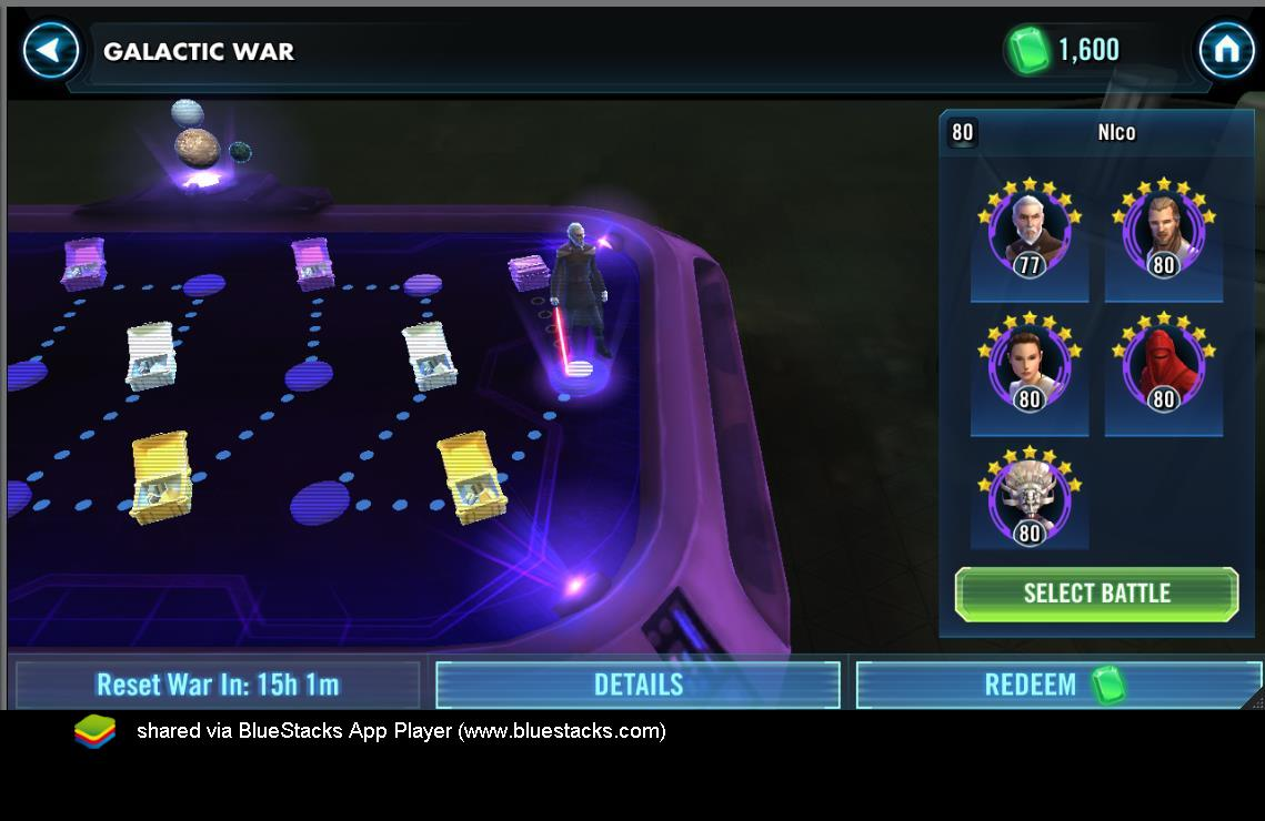 Be efficient on Galactic wars    | Star Wars: Galaxy of Heroes forum